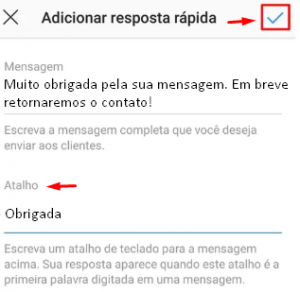 Como configurar as respostas rápidas no Instagram